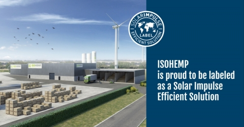 IsoHemp heeft het label 'Solar Impulse Efficient Solution' gekregen